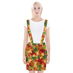 Autumn Leaves Braces Suspender Skirt