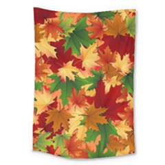 Autumn Leaves Large Tapestry by BangZart