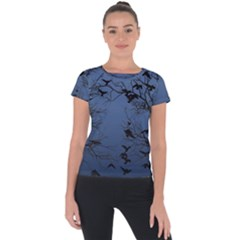 Crow Flock  Short Sleeve Sports Top
