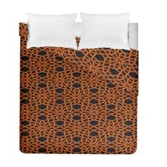 Triangle Knot Orange And Black Fabric Duvet Cover Double Side (full/ Double Size) by BangZart