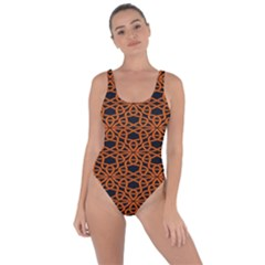 Triangle Knot Orange And Black Fabric Bring Sexy Back Swimsuit