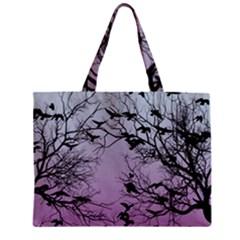 Crow Flock  Zipper Mini Tote Bag by Valentinaart
