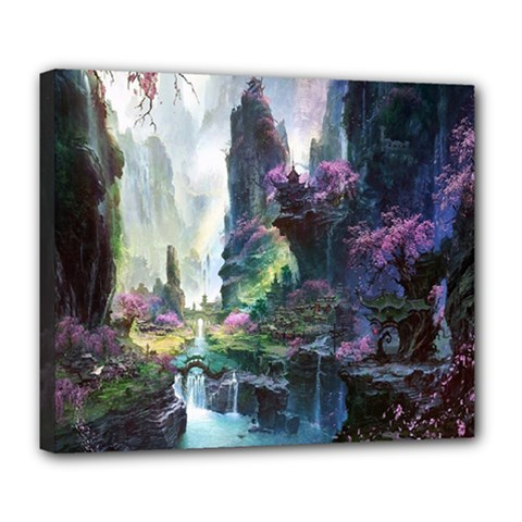 Fantastic World Fantasy Painting Deluxe Canvas 24  X 20