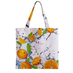 Fruits Water Vegetables Food Zipper Grocery Tote Bag by BangZart