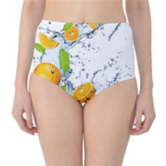 Fruits Water Vegetables Food High Waist Bikini Bottoms