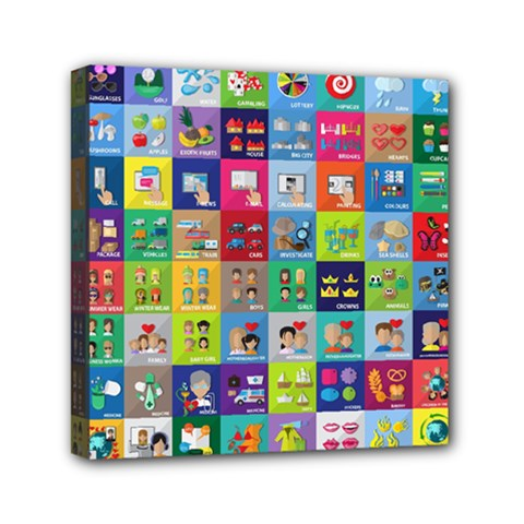 Exquisite Icons Collection Vector Mini Canvas 6  X 6  by BangZart