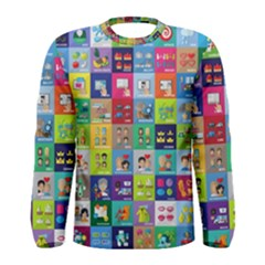 Exquisite Icons Collection Vector Men s Long Sleeve Tee