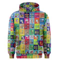 Exquisite Icons Collection Vector Men s Pullover Hoodie