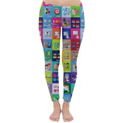 Exquisite Icons Collection Vector Classic Winter Leggings