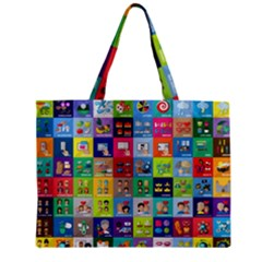 Exquisite Icons Collection Vector Zipper Mini Tote Bag by BangZart