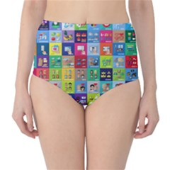 Exquisite Icons Collection Vector High Waist Bikini Bottoms