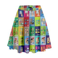 Exquisite Icons Collection Vector High Waist Skirt by BangZart