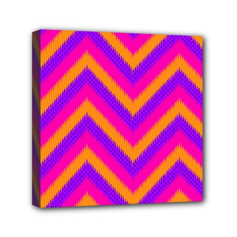 Chevron Mini Canvas 6  X 6  by BangZart