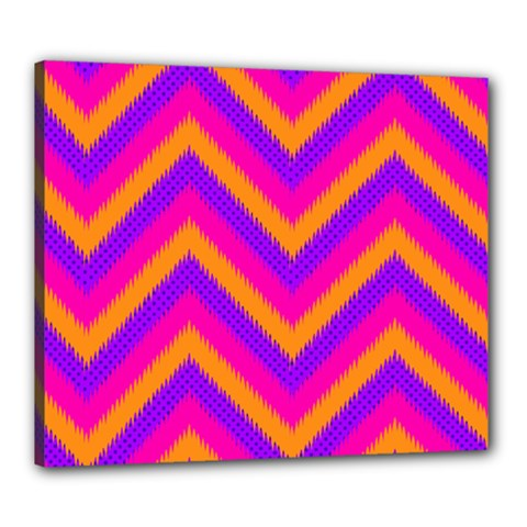 Chevron Canvas 24  X 20