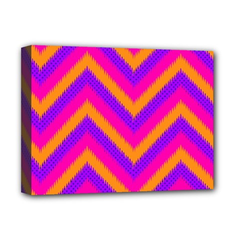 Chevron Deluxe Canvas 16  X 12   by BangZart