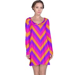 Chevron Long Sleeve Nightdress