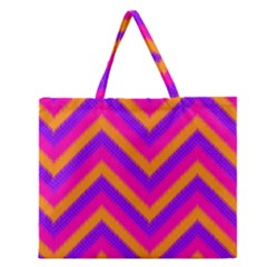 Chevron Zipper Large Tote Bag by BangZart