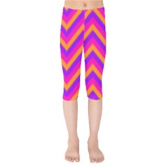 Chevron Kids  Capri Leggings