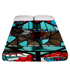Elephant Stained Glass Fitted Sheet (king Size)