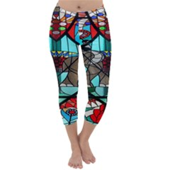 Elephant Stained Glass Capri Winter Leggings
