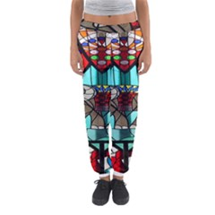 Elephant Stained Glass Women s Jogger Sweatpants