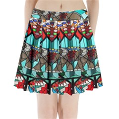 Elephant Stained Glass Pleated Mini Skirt by BangZart