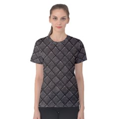Seamless Leather Texture Pattern Women s Cotton Tee