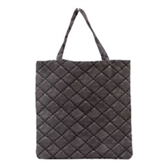 Seamless Leather Texture Pattern Grocery Tote Bag by BangZart