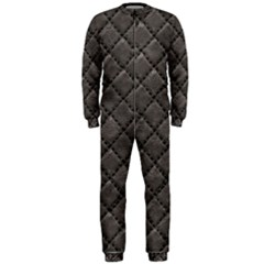 Seamless Leather Texture Pattern Onepiece Jumpsuit (men)
