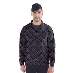 Seamless Leather Texture Pattern Wind Breaker (men)