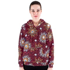 India Traditional Fabric Women s Zipper Hoodie