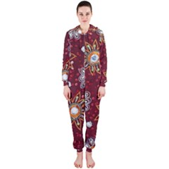 India Traditional Fabric Hooded Jumpsuit (ladies)