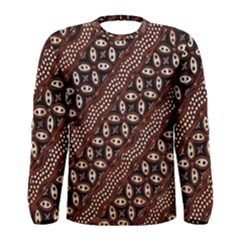 Art Traditional Batik Pattern Men s Long Sleeve Tee