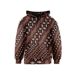 Art Traditional Batik Pattern Kids  Zipper Hoodie