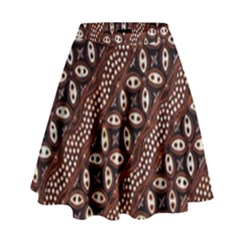 Art Traditional Batik Pattern High Waist Skirt by BangZart