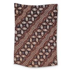 Art Traditional Batik Pattern Large Tapestry