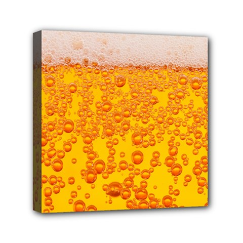 Beer Alcohol Drink Drinks Mini Canvas 6  X 6  by BangZart