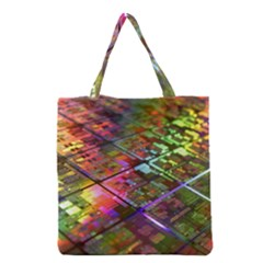 Technology Circuit Computer Grocery Tote Bag