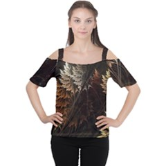 Fractalius Abstract Forests Fractal Fractals Cutout Shoulder Tee