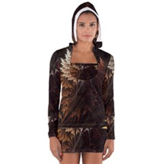 Fractalius Abstract Forests Fractal Fractals Long Sleeve Hooded T Shirt