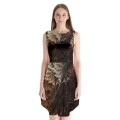 Fractalius Abstract Forests Fractal Fractals Sleeveless Chiffon Dress