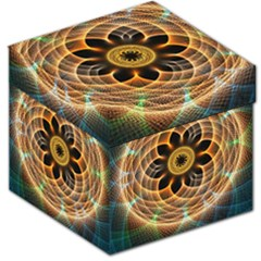 Mixed Chaos Flower Colorful Fractal Storage Stool 12