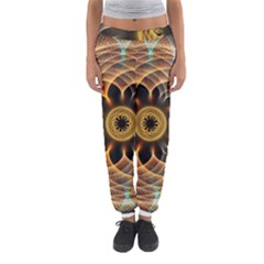 Mixed Chaos Flower Colorful Fractal Women s Jogger Sweatpants