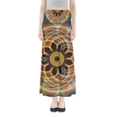 Mixed Chaos Flower Colorful Fractal Full Length Maxi Skirt