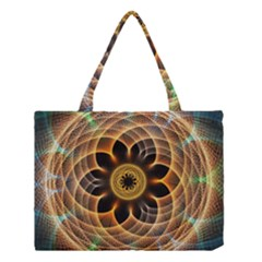 Mixed Chaos Flower Colorful Fractal Medium Tote Bag by BangZart