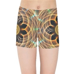 Mixed Chaos Flower Colorful Fractal Kids Sports Shorts
