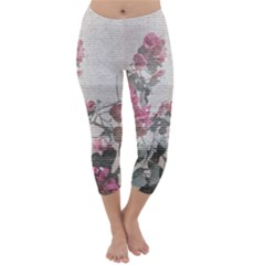 Shabby Chic Style Floral Photo Capri Winter Leggings  by dflcprintsclothing