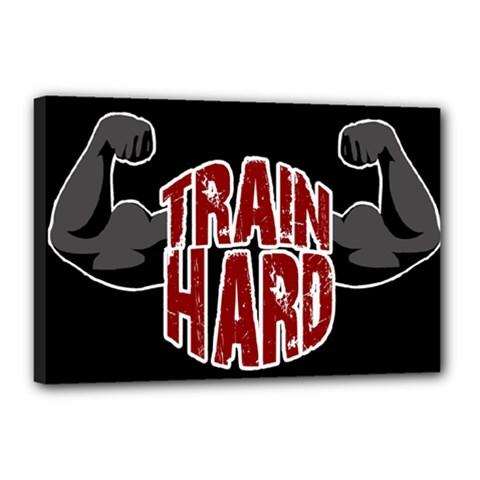 Train Hard Canvas 18  X 12  by Valentinaart
