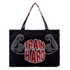 Train Hard Medium Tote Bag by Valentinaart