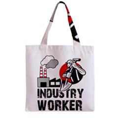 Industry Worker  Grocery Tote Bag by Valentinaart